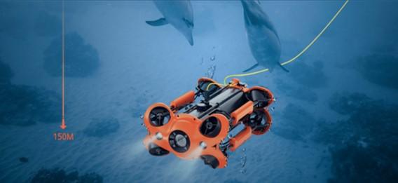 水中ドローンでの海洋保全・汚染調査